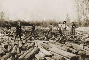 Rolling logs through St. Lawrence Seaway
